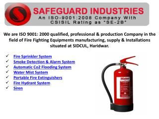 Fire sprinkler Systems Supplier