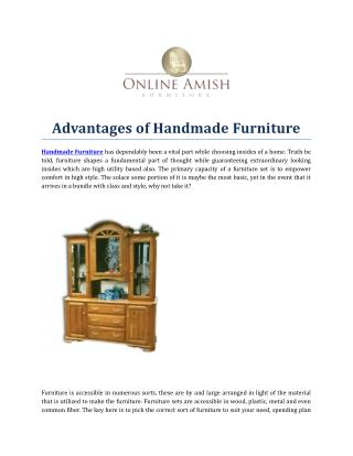 Advantages of Handmade Furniture