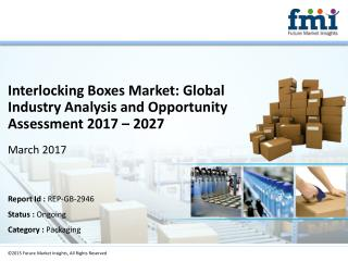 Interlocking Boxes Market Volume Analysis, Segments, Value Share and Key Trends 2017-2027