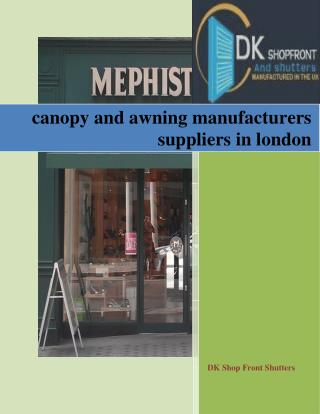 canopy and awning manufacturers suppliers in london
