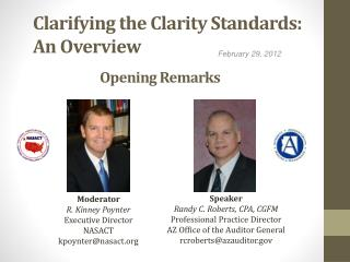 Clarifying the Clarity Standards: An Overview