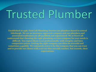 Trusted Plumber