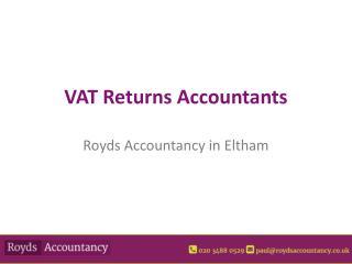 VAT Return Services in Eltham