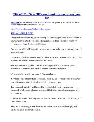 FlickGIF Review & HUGE $23800 Bonuses