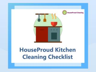 HouseProud Kitchen Cleaning Checklist