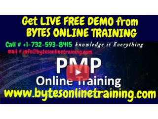 Live, instructor-led  PMP Online Training- BYTES ONLINE TRAINING