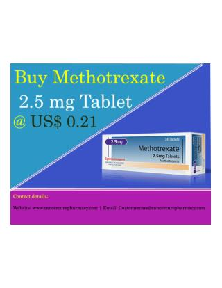 Buy Methotrexate 2.5 mg Tablet @ US$ 0.21