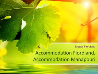 Accommodation Fiordland