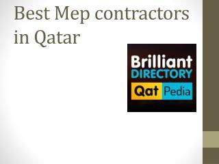 MEP Contractors in Qatar