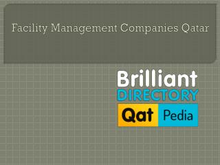 Facility Management Companies in Doha, Qatar