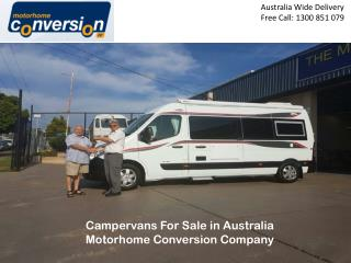 Campervans For Sale in Australia Motorhome Conversion Company