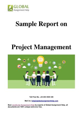 Sample On Project Management By Global Assignment Help