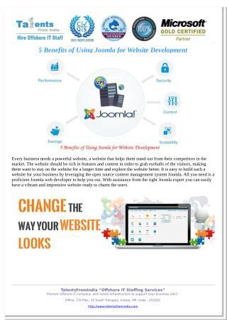 5 Benefits of Using Joomla for Website Development