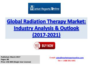Radiation Therapy Industry Analysis and Forecast to 2021 For Global Market