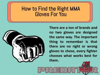 How to Find the Right MMA Gloves For You