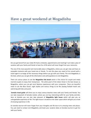 Somalia tourism guide