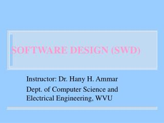 SOFTWARE DESIGN SWD