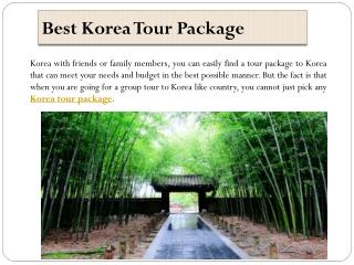 Best Korea Tour Package