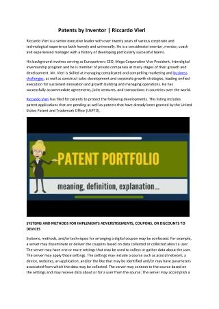 Network Marketing and Patent Specialist | Riccardo Vieri