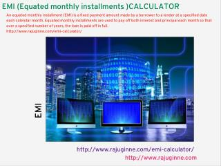 EMI calculator, monthly EMI, Yearly EMI calculate...