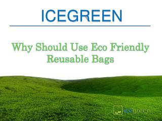 Why Should Use Eco Friendly Reusable Bags