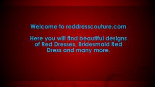 Discount on Bridesmaid Red Dresses from reddresscouture.com