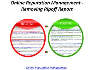 Online Reputation Management - Removing Ripoff Report