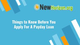 Things to Know Before You Apply for A Payday Loan