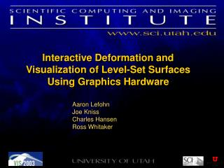 Interactive Deformation and Visualization of Level-Set Surfaces Using Graphics Hardware