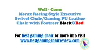 Merax Racing Style Executive Swivel Chair/Gaming PU Leather Chair with Footrest Black&Red