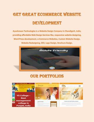 Get great ecommerce website development