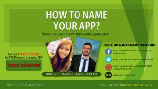 App Name Mastery Guide - how to choose app name?