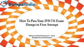 2V0-731 Dumps Questions