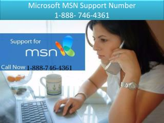 Microsoft MSN Support Number |  1-888- 746-4361