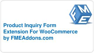 WooCommerce Product Enquiry Form by FMEAddons