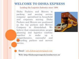 Packing and Moving Companies in Ahmedabad
