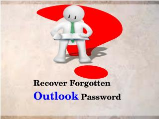 Recover Forgotten Outlook Password