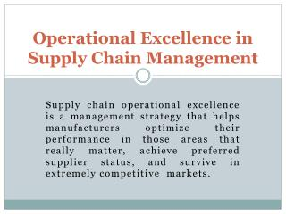 Supply Chain Planning maintains Scheduling | Inventory Planning