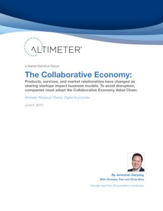[Report] The Collaborative Economy, by Jeremiah Owyang