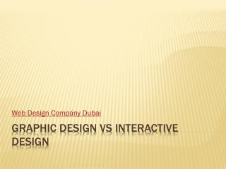 Graphic Design vs Interactive Design