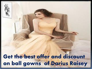 Choose  fashion designer dresses from Darius Cordell
