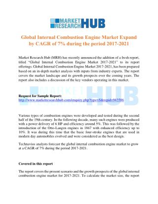 Global Internal Combustion Engine Market Research Report 2017-2021