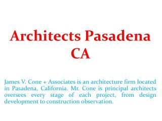 Architects Pasadena CA