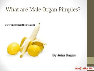 What are Male Organ Pimples?
