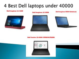 Dell laptop under 40k
