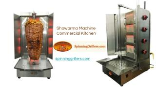 Shawarma Machine in Commercial Kitchen Grills