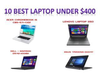 Top laptop under 400 dollars