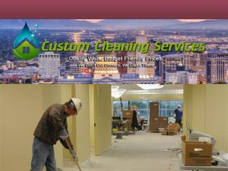 Commercial Office Cleaning Services in Salt Lake
