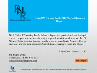 Global PP Nursing Bottle Market Trends & Forecast to 2021