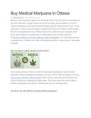 Buy Medical Marijuana In Ottawa